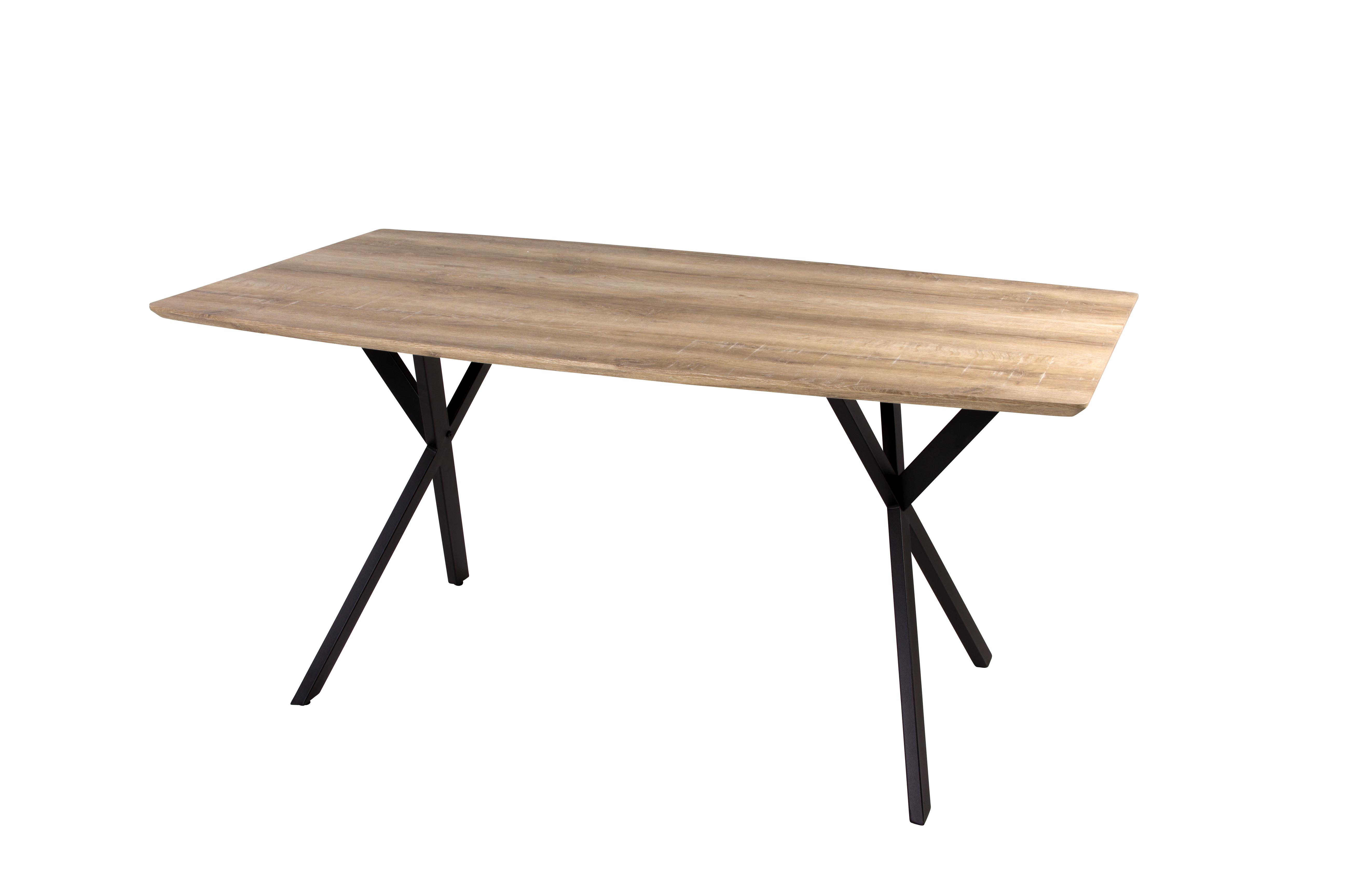 Tafel met houten bovenblad max meubel - Ingerichte keuken met geintegreerde tafel ...